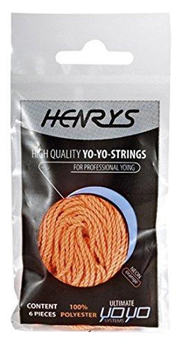 Henrys A01006-S13 - Yo-Yo Ersatzschnüre 6 Stück, neonorange