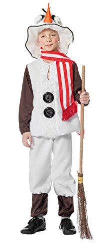 Karneval Klamotten Schneemann Kostüm Kinder KInder-Kostüm mit Hut und Schal Weihnachten Karneval Größe - Kostüm Halloween Hut Olaf