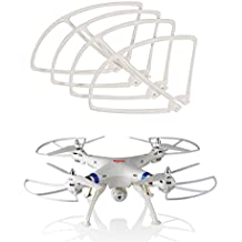 BlueBeach® 4 Protectors Propellers Blades Accessories Syma X8C Drone White