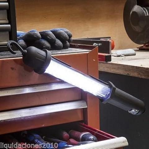 LAMPARA LINTERNA RECARGABLE ion litio DE 60 LEDS PARA TRABAJO CON GANCHO DURACION 3-4 HORAS LUZ DE