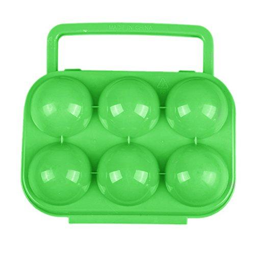 Trixes - uova scatola - contenitore portatile rigido per 6 uova - uova scatola rigida - portauova in plastica robusta - perfetto per il campeggio