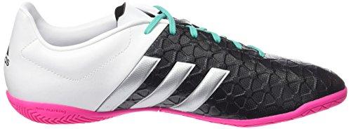 adidas Herren Ace 15.4 in Fußballschuhe - noir / Plateado / Blanc (Negbas / Plamat / Ftwbla)