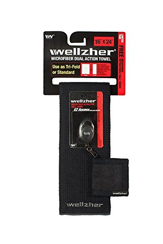 wellzher-premium-microfiber-dual-action-golf-towel-16x24-limited-time-offer-1-free-retractable-golf-