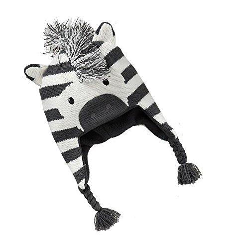 Kleine Kostüm Mädchen Zebra - Aiklin Baby Wintermütze Kinder Hut Zebra-Form Beanies (1-2 Jahre)