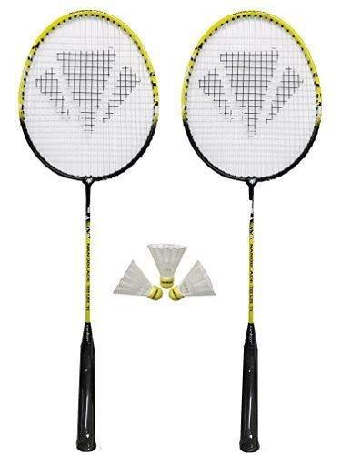 2 x Carlton NanoBlade Badminton Schläger + 3 Shuttles