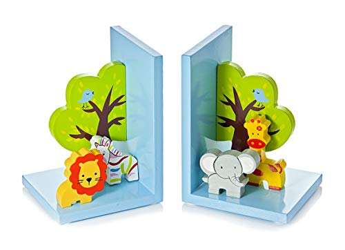 Kinder Baby Buchstützen aus Holz 3D Safari Jungle für Jungen und Mädchen Kinderzimmer