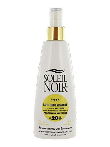 Soleil Noir Spray Lait Fluide Vitaminé SPF 20 150 ml