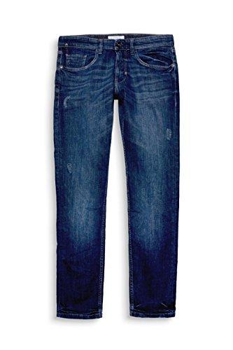 ESPRIT Herren Slim Jeans Blau (Blue Dark Wash 901)