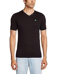 United Colors of Benetton Mens Cotton T-Shirt (555DI Black XL)