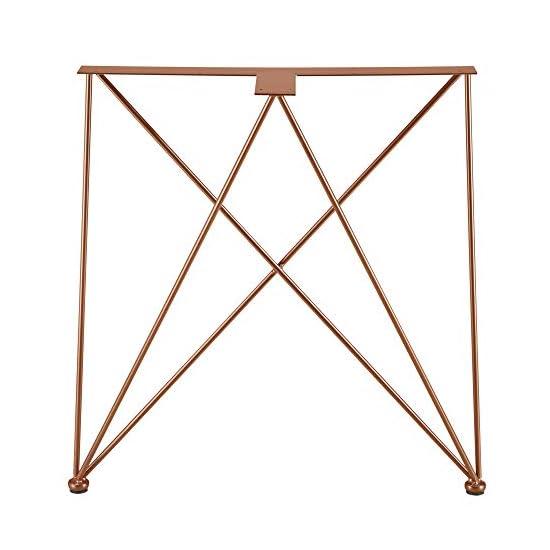 [en.casa] 2X Tischgestell 62x22x72cm DIY Esstisch Hairpin Leg Tischuntergestell Tischkufen Tischbein Stahl