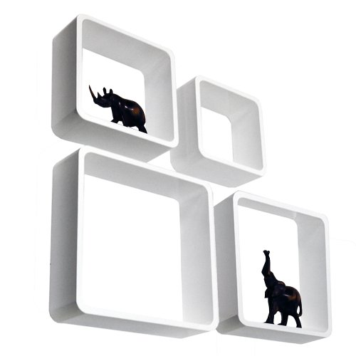 CUBE - Wall Display / Cubi - Set di quattro - Bianco