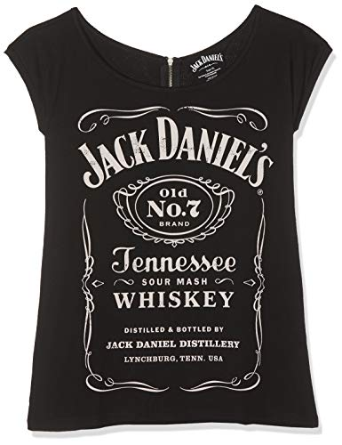 Jack Daniel's Old No.7 Back Zip T-Shirt schwarz M - Damen Jack