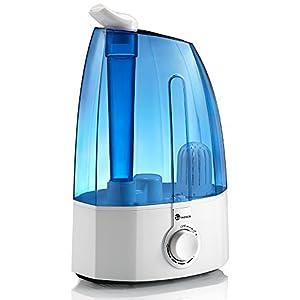 TaoTronics Ultraschall Luftbefeuchter Schlafzimmer 3,5L Humidifier Benutzerfreundliche Bedienung über Drehknopf zwei 360° drehbare Dampfdüsen Keramikfilter Einstellbare Nebelmenge für Arbeitsplatz