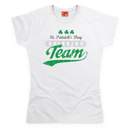 Drinking Team T-Shirt, Damen Wei