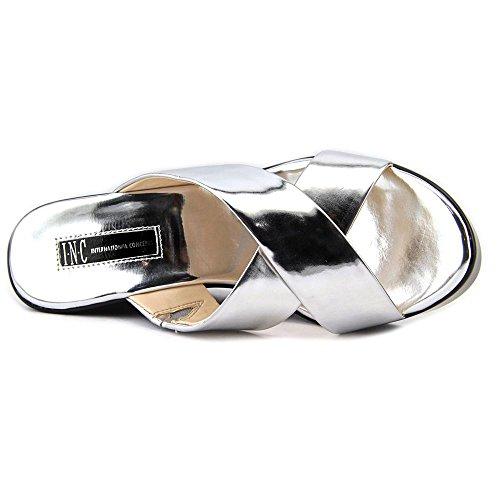 INC International Concepts Pammi Femmes Synthétique Sandales Compensés silver