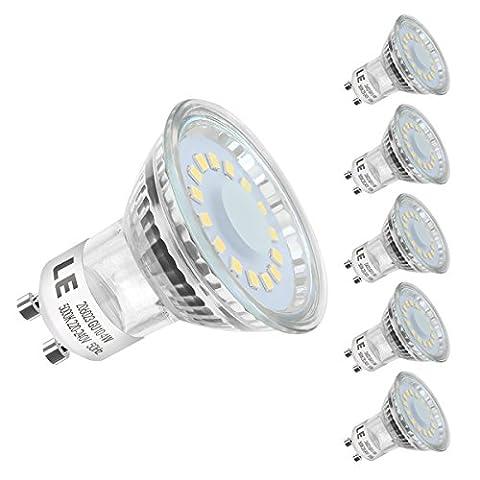 LE 5 Pack GU10 LED Light Bulbs, 50W Halogen Bulbs