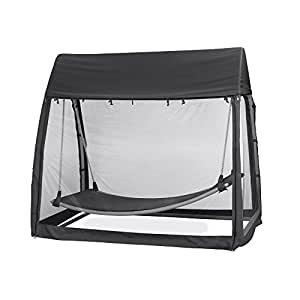 siena garden h ngematte h ngematte 233x139x205cm gestell stahl in silber fl che. Black Bedroom Furniture Sets. Home Design Ideas