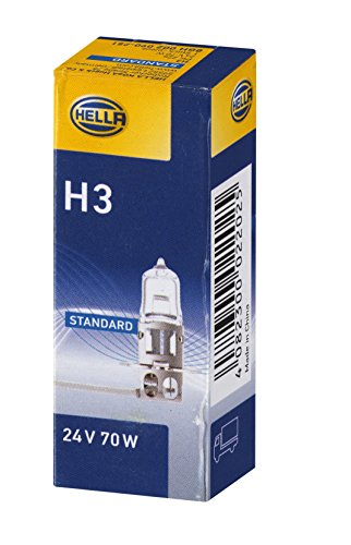HELLA 8GH 002 090-251 Glühlampe, Standard Halogen Scheinwerferlampe, H3, 70 W, 24V