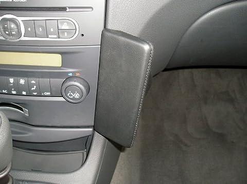 Haweko Telefonkonsole für Renault Laguna II Phase2, Bj. 05-07 Leder, Schwarz