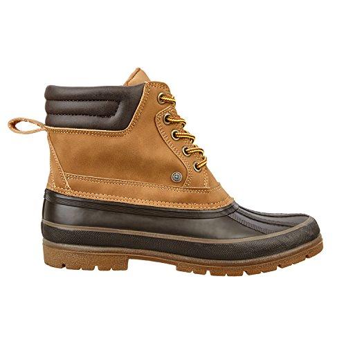 Stiefelette »MUDKING« Waterproof. Bequeme Boots | Robuster und haltbarer Reit-Schuh, auch Arbeitsschuh und Reitstiefelette | Tolle Stableboot Passform | Stiefel Größen 36-46 | Farbe: beige-schwarz