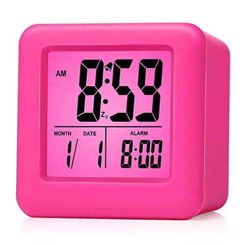 Reloj despertador Plumeet digital con snooze, luz de noche suave, pantalla grande con hora,...
