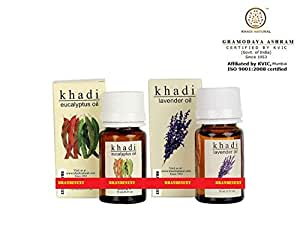 Khadi Essential Oil Combo - 8 (Eucalyptus & Lavender) (Set of 2)
