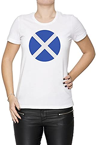 Écosse nationale Drapeau Femme T-Shirt Cou D'équipage Blanc Coton Manches Courtes Women's T-Shirt White