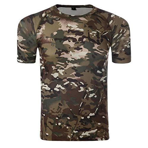 T Shirt Herren 3D Druck Kurzarm Rundhalsausschnitt mit Muster Sommer T-Shirts,Camouflage T-Shirt Herren Kurzarm Baumwolle Sport Unterhemd Farbe5 XXXL