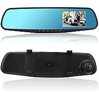 4.3 1080P Dual Lens Auto DVR Mirror Dash CAM Recorder + Kit de cámara