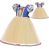 JJAIR El pequeño Traje de Princesa Girl, Cosplay del Vestido Ocasional de la Fiesta de cumpleaños de Dibujos Animados Fantasía Vestido con tutú de hasta Vestido de Boda del Desfile y la Fiesta,130