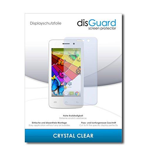 disGuard® Bildschirmschutzfolie [Crystal Clear] kompatibel mit Mobistel Cynus E4 [3 Stück] Kristallklar, Transparent, Unsichtbar, Extrem Kratzfest, Anti-Fingerabdruck - Panzerglas Folie, Schutzfolie