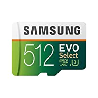 Samsung Samsung 512GB 100MB/s (U3) MicroSD Evo Select Memory Card with Adapter (MB-ME512GA/AM)