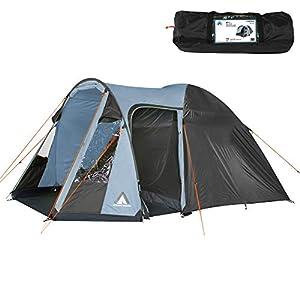 10T Zelt Corowa für 4 oder 5 Personen & div. Farben zur Wahl, Familienzelt mit Stehhöhe, 5000mm Campingzelt…