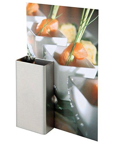 Kartenhalter, 2er Set, aus Edelstahl, matt poliert / 8,5 x 4 cm | SUN