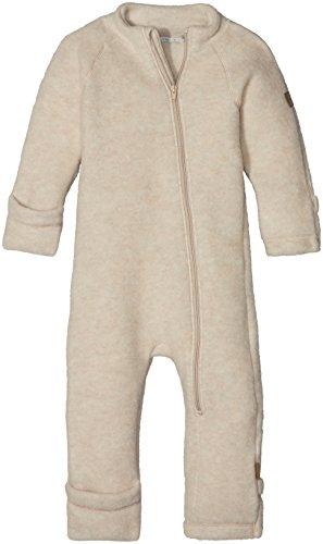 mikk-line Unisex Baby Spieler Wollanzug, Beige (Melange Offwhite 429), 62