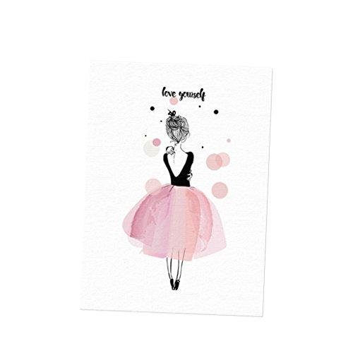 Für Mädchen Wandbilder (Sharplace Wandbilder Kunstdruck Leinwand Bilder Set -Ballett Mädchen - Liebe dich selbst L)