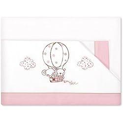 Pirulos Globo - Sábanas, 50 x 80 cm, color blanco y rosa