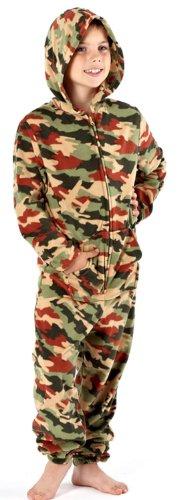 i-smalls LtdMädchen Strampelanzug, Grün - Olive Camouflage, 7-8 (Olive Eine Einfach Kostüm)