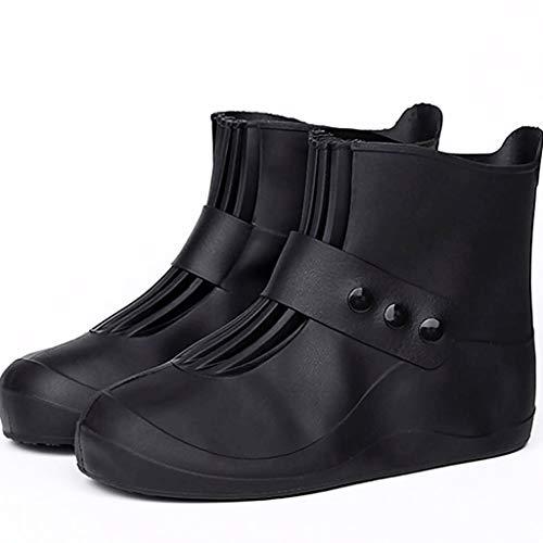 Duanguoyan Regenstiefel- Kinder Schuhabdeckung Wasserdichte Dicke Männer und Frauen Erwachsene Schneeschuhe Decken Regen Stiefel Kurze Röhre Wasserschuhe (Farbe : Schwarz, größe : 36/37)