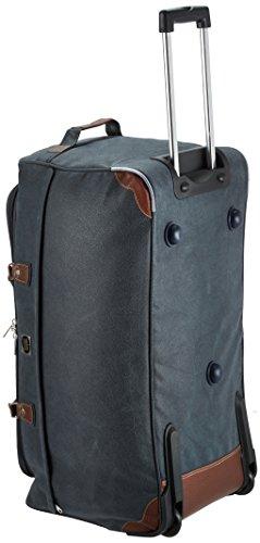 HAUPTSTADTKOFFER - Tiergarten - Reisetasche mit Rollen Trolley-Tasche Reisekoffer mit geräumigem Hauptfach, 77 cm, 108 Liter, Dunkelblau Lederoptik -