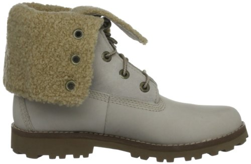 Timberland Auth 6In Shrl Bt Brown, Boots mixte enfant Blanc - Weiß (Off White Nubuck)