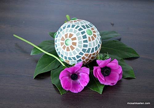 Rosenkugel braun grün 10 cm handgemacht