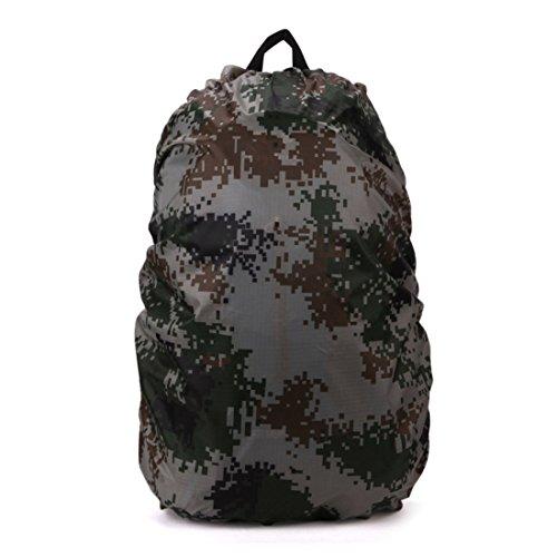 ruifu 35 L – 40lbackpack Housse de pluie pliable Sac à dos étanche anti-poussière Protection d'écran pour camping voyage (Camouflage)
