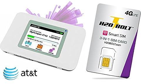 USA Prepaid Daten SIM Karte 5GB in 4G LTE + WiFi Hotspot-Router - AT&T-Netz - 30 Tage