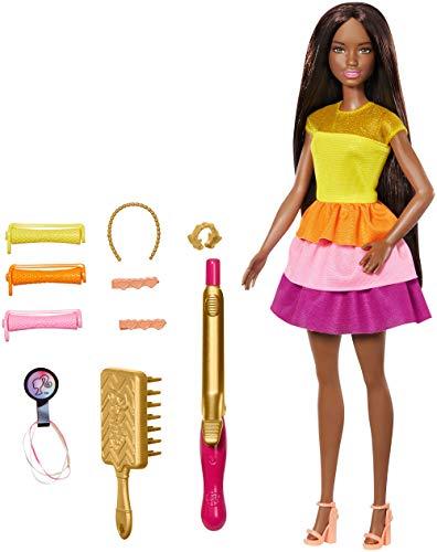 Barbie GBK25 - Locken-Style Puppe, schwarzhaarig