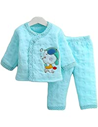 Hold Present Newborn Baby's Winter Wear Warm Cotton 2 Pcs Gift Set 0 to 6 Month. (Any Color -Print - 1 Set)