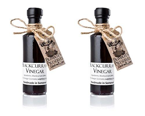 Bumblee's | Vinaigre artisanal de cassis | 2 bouteilles de 100 ml | Pleins de bienfaits pour la santé et la beauté | Mis en bouteille à la main au Royaume-Uni | Gout incomparable
