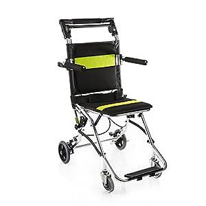 yuwell Potable Folding Travelling Wheelchair,Ultra Lightweight Transport Wheelchair for The Elderly and Children
