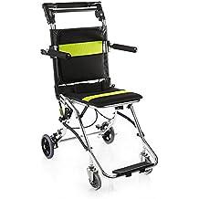 Silla de ruedas portátil de Yuwell; plegable, portátil, perfecta para viajes, transporte