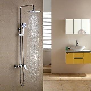 AiMi- Duscharmaturen - Zeitgenössisch - Regendusche/Handdusche inklusive - Messing ( Chrom )